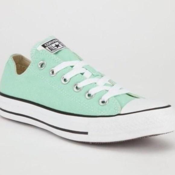 cb12bce92e4d58 Converse Shoes - Converse Chuck Taylor All Stars Low Mint Green